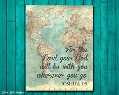Joshua 1:9. The Lord will be with you by LittleLifeDesigns on Etsy