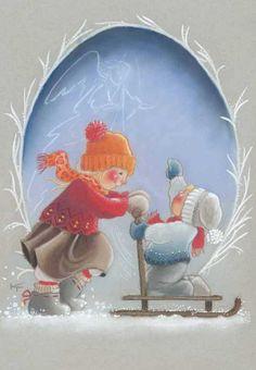 Klikkaa sulkeaksesi Christmas Clipart, Christmas Printables, Christmas Crafts, Scandinavian Kids, Scandinavian Christmas, Angel And Devil, Christmas Illustration, Craft Activities, Winter Time