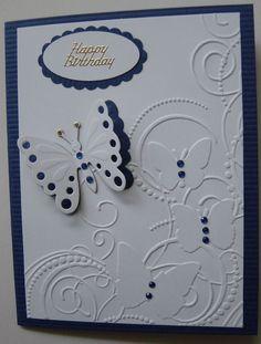 """Embossing folder """"Butterfly Corner"""" by Darice, Spellbinders butterfly"""