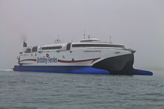 Normandie Express arriving in Poole for the first time to conduct Berthing Trials. 29/10/2014. @Brittany Ferries