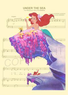 La petite sirène de mer Art Print par AmourPrints sur Etsy