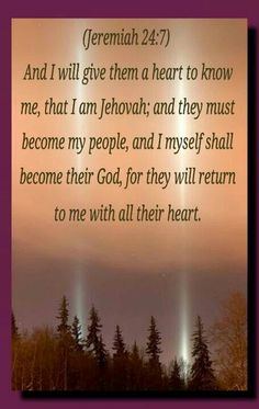 Loving God Jehovah ...sure would love if people would get to know Jehovah...