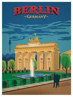 Image of Vintage Berlin Poster available for sale at ideastorm. - Image of Vintage Berlin Poster available for sale at ideastorm. Berlin Travel, Rome Travel, Germany Travel, Spain Travel, Poster City, Poster S, Vintage Travel Posters, Vintage Postcards, Vintage Ski