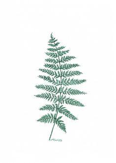 New Zealand Tree Fern Pen Ink Drawing NZ Pointillism Green Leaf Leaves Plants Native Art Artwork #art #drawing #fern #leaf #leaves #pointillism #dot