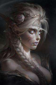 Night Elf princess, fantasy character and race inspiration