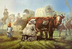 Evening Milking on the Oregon Trail, Don Crook