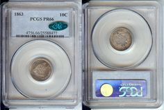 1863 10 CENT DIME SEATED LIBERTY PCGS PR66 CAC PROOF - Uncirculated - Certified