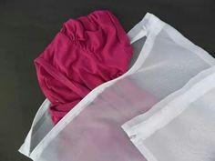 Saco para lavar roupas delicadas #handmade #ops #sacopararoupas