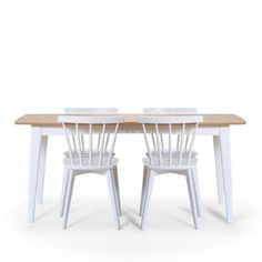 Linköping spisebord 170, eik/hvit i gruppen Møbler / Bord / Spisebord hos ROOM21.no (123787)