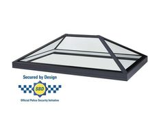Secured by design roof lantern, frameless, low pitch. Glass to glass roof lantern rooflight and skylights for flat roof applications. Roof Lantern, Laminated Glass, Ral Colours, Roof Light, Skylights, Safety Glass, Glass Roof, Technical Drawing