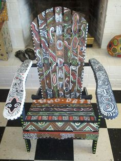 New Orleans Saints Funky Adirondack Chair By Mizippihippi On Etsy, $175.00
