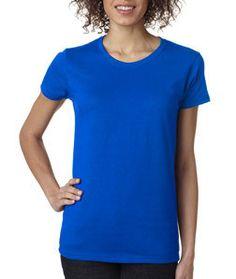 5000L Gildan Heavy Cotton™ Ladies' T-Shirt Neon Blue