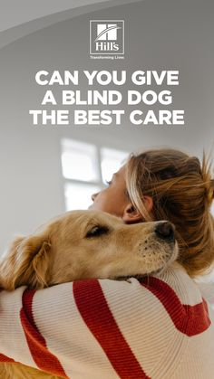"""Like people, dogs often experience failing eyesight as they get older—and need a """"seeing eye"""" just as you would. Caring for a dog who is losing his vision (or who's already gone blind) can offer a special set of challenges for the rest of the family. But a loss of eyesight certainly doesn't mean a poor quality of life, especially for pet parents who are willing to adjust how they care for their impaired canine. Healthy Pets, Dog Care, Blinds, Parents, Rest, Challenges, Dogs, People, Life"""