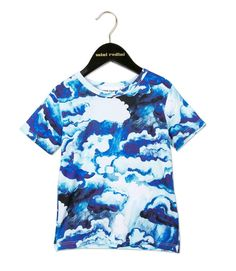 Mini Rodini Blue Clouds Print Tee – Little Luna Blue