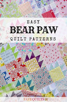 Make a bear paw quilt block or a full quilt with these free quilt patterns for bear paw designs. #rusticquilting