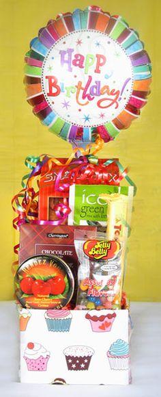 Birthday Gift Baskets Happy Bday Cupcake
