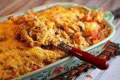tex mex chicken and rice casserole recipe