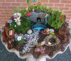 Fairy Birdbath Garden