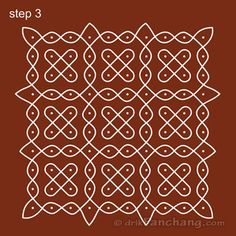 10x10 Dot Rangoli Step 3