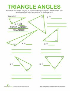 triangle angle sum worksheets places to visit pinterest triangles angles and worksheets. Black Bedroom Furniture Sets. Home Design Ideas