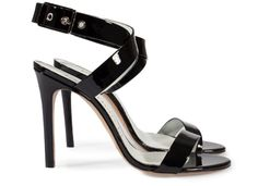 Cecily, glossy high heel sandal in black gloss patent.   Pedro Garcia Shoes Spring-Summer 2015   Made in Spain