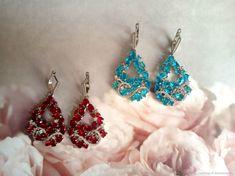 Materials: 925 Sterling Sterling, Ruby, Topaz Size: 25x55mm ##handmade Topaz Earrings, Drop Earrings, Sterling Ruby, Pattern, Handmade, Jewelry, Products, Fashion, Moda