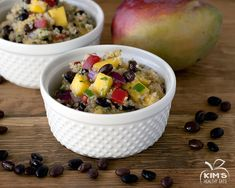 Black Bean Mango Quinoa Salad: To keep, don't add cilantro as directed. Chop ahead and add when eating as garnish.