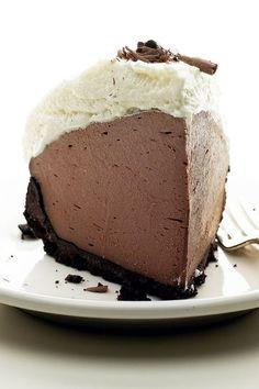 No Bake Chocolate Truffle Pie Recipe - Only 5 Ingredients