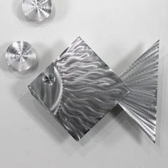 Home Decor Accent Silver Fish Tropical Abstract by statements2000,
