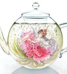 Anime Girl in Teapot
