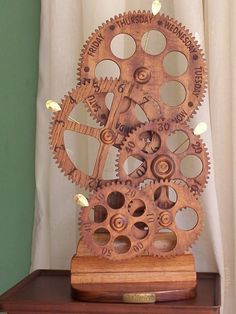 Free Wooden Gear Clock Plans Download - WoodWorking Projects & Plans