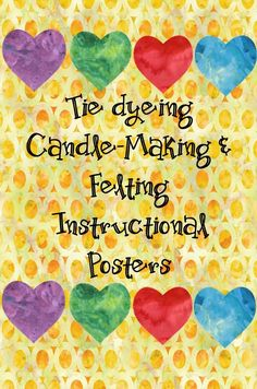 Step-by-step posters to help you teach your students how to tie dye, make candles, and felt Kinesthetic Learning, Learning Objectives, Science Activities For Kids, Spring Activities, 3rd Grade Classroom, Teaching Resources, Classroom Resources, Teaching Ideas, Teacher Organization