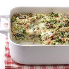 Spinach & Broccoli Lasagna