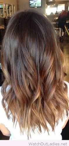 Balayage On Dark Brown Hair: Shoulder Length