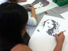 One of my students working on a portrait of #Taylor Swift  Lamar Louise Curry Middle   Art Appreciation: Art 2 working
