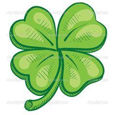 Four leaf clover sketch — Stock Illustration © Len Neighbors #