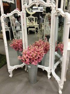 Mirrors: Lovely Shabby Chic tri-fold #mirror.