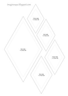 imaginesque free quilt diamonds templates
