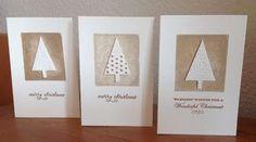 Die schlichte Karte: Weihnachtskarten mit der Tannenbaum-Stanze von Sta...