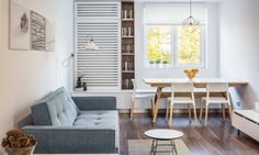 How To Furnish A Small Living Dining Room - Interior Design Dining Room Small Living Dining, Living Dining Combo, Small Living Room Design, Living Room Grey, Small Living Rooms, Dining Room Design, Living Room Decor, Kitchen Living, Kitchen Small