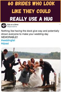 Weddings are stressful and sometimes they bring out the worst in people. They can also be full of mishaps.  After all the planning and worrying, it feels like there's so much at stake on your wedding day that it's hard to relax. Love Memes, Funny Memes, Jokes, Memes Humor, Hilarious, Wedding Fail, Comedy Clips, Inspirational Memes, Friend Memes