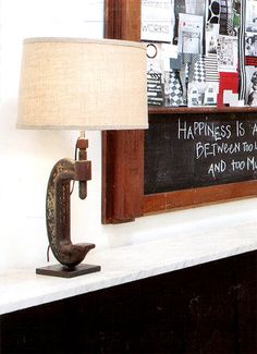 Vintage clamp lamp