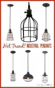 Affordable Industrial Pendant Lighting MUST PIN! Awesome round-up of industrial pendant lighting by Rustic Industrial Decor, Industrial House, Vintage Industrial, Industrial Style, Industrial Office, Industrial Farmhouse, Industrial Interiors, Industrial Furniture, Industrial Design