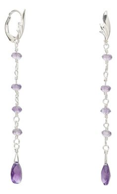 Earrings with Amethyst Gemstone Beads and Sterling Silver Wire - Fire Mountain Gems and Beads
