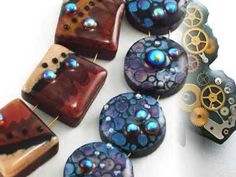 Find these polymer clay tutorials at www.PolymerTutorials.com  Faux Cloisonne  Faux Lampwork  Faux Art Glass  Faux Enamel  Steampunk Pendants  Polymer Clay and Pearls Vases  Polymer Clay and Gems Bracelet  Free-Hand Sculpting of Orchids  Polymer Clay and Fibers Beads  Skinner Blend  Millefiori  Ikat    Music: D.Marouani, Space Opera, p.3