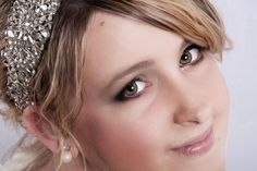 Silver Diamante Crystal Rhinestone Marquise Hairband * Any Colour Ribbon Wrap *