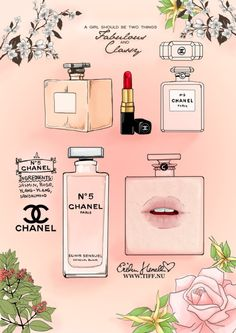 Chanel by PeterPan-Syndrome on DeviantArt Chanel No 5, Coco Chanel, Art Chanel, Chanel Pink, Fashion Quotes, Fashion Art, Fashion Images, Collages D'images, Chanel Poster