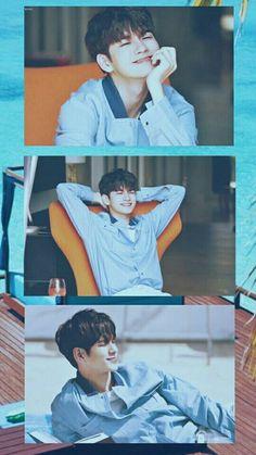 Gold Wallpaper Phone, Tumblr Wallpaper, I Wallpaper, Ong Seung Woo, Stencil Decor, Bedroom Wall Collage, Kim Jaehwan, Seong, 3 In One
