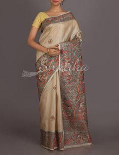 Niharika Women Of India Pure Hand Painted #MadhubaniSilkSaree