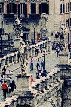 Puente de Santo Angelo Roma Italia.